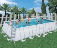 Bestway 24ft x 12ft x 52in Steel Pro Frame Rectangular Pool